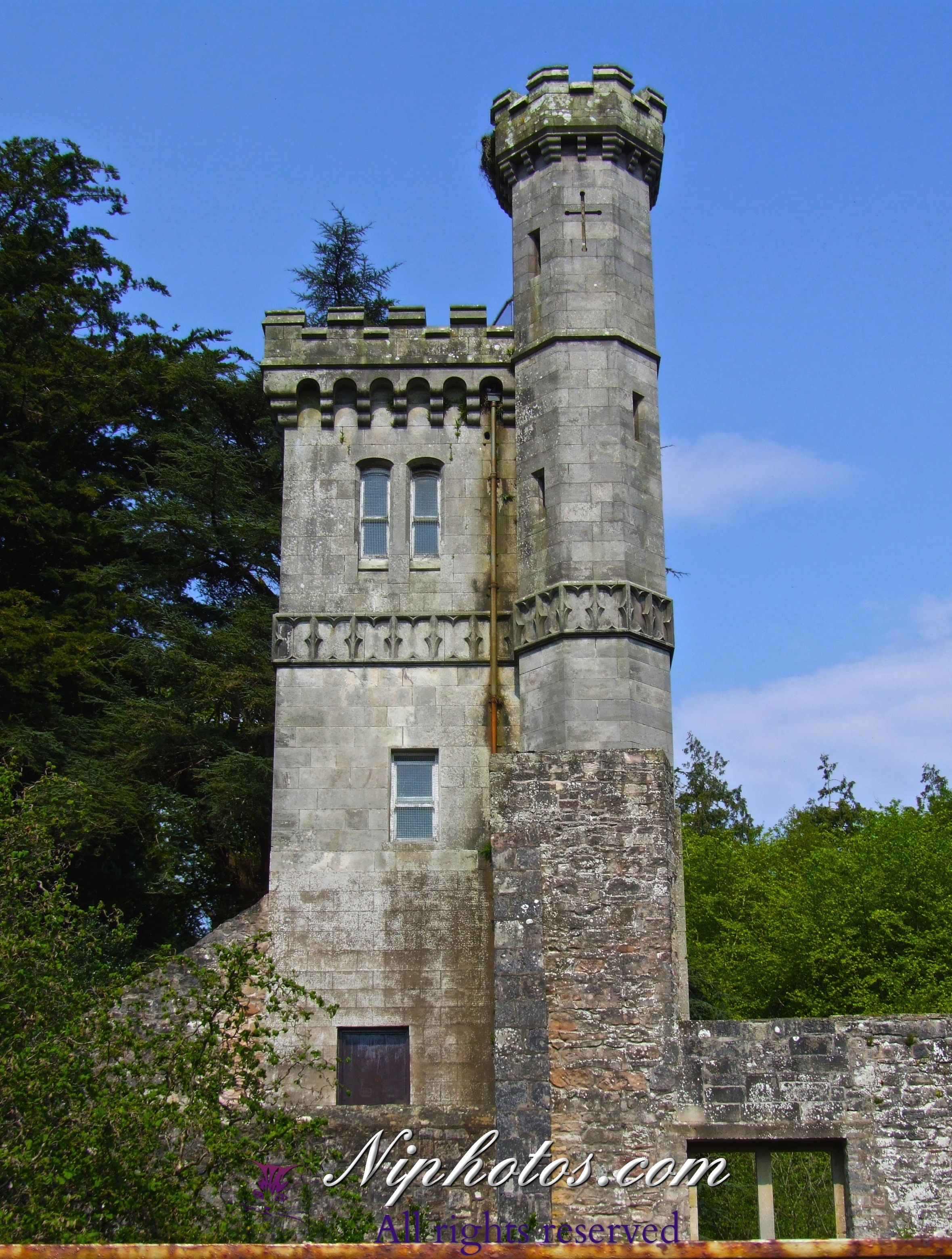 The Old Tower At Drumanor Forest Park Near Cookstown Northern