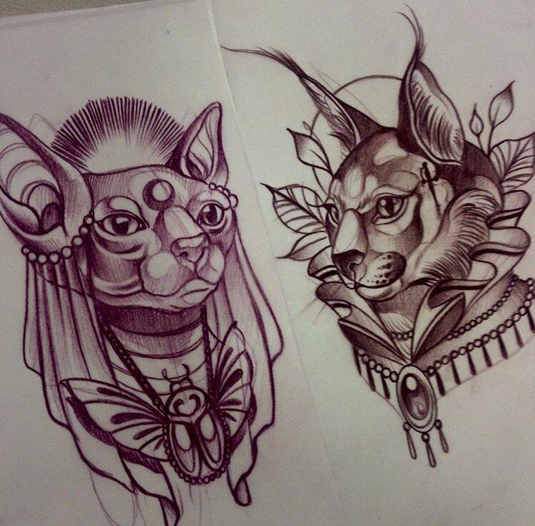Manu cruz 39 s work for Egyptian tattoo flash