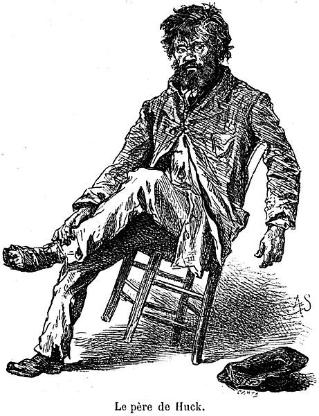 Image result for huck finn father