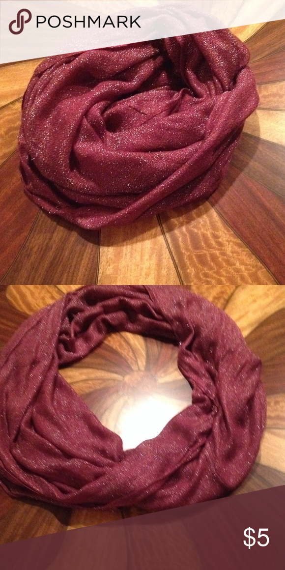 Infinity scarf Perfect plum color for fall with a bit of silver fleck. Smoke free home.🍂 Echo Accessories Scarves & Wraps