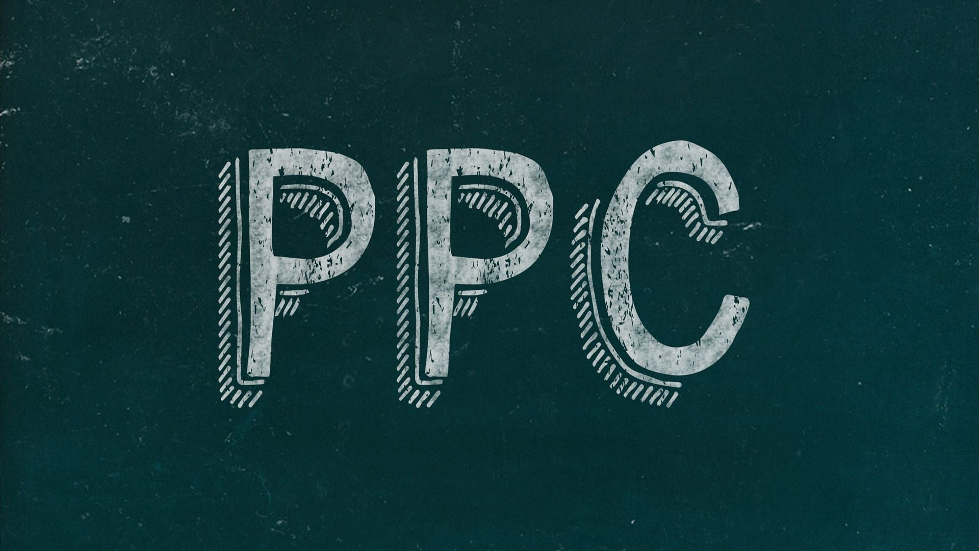 Ppc Chalkboard Marketing Slide Free Marketing Presentation