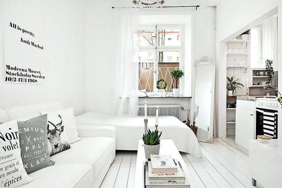 small studio apartment design view in gallery
