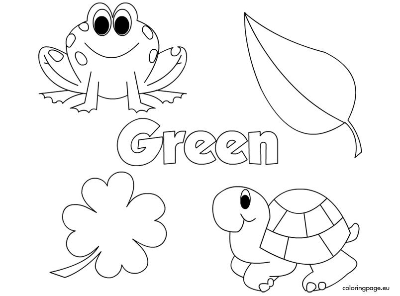 The Color Green Preschool Colors Teaching Colors Coloring Pages