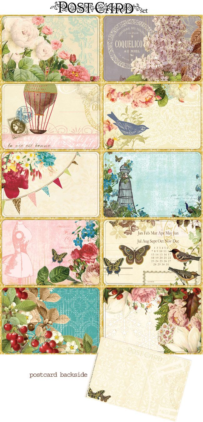 freebie friday   postcards! | Art and Patterns | Printables