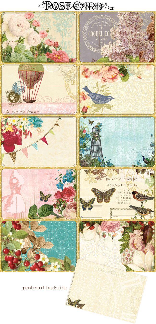 Webster S Home Vintage Printables Crafts Postcard