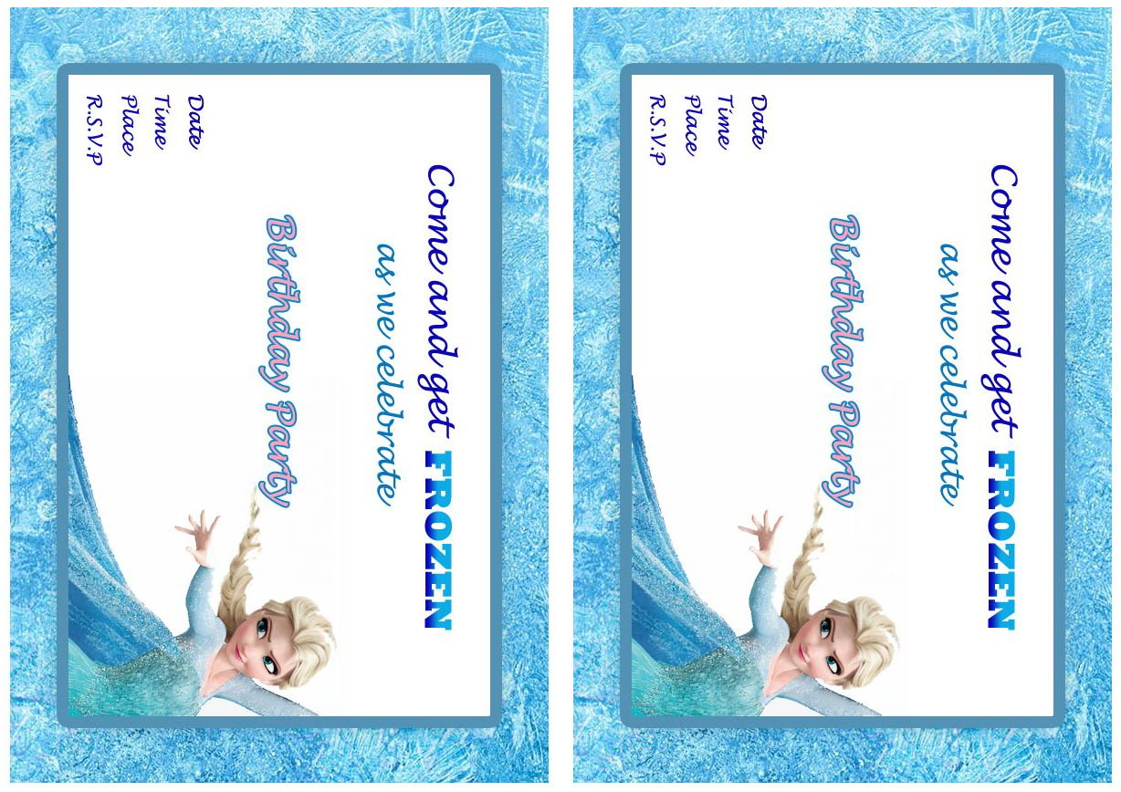 Frozen Movie FREE Printable Birthday Party Invitations | Birthday ...