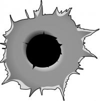 Bullet Hole Decal Sticker 05 Bullet Holes Pinstriping Designs Skull Decal