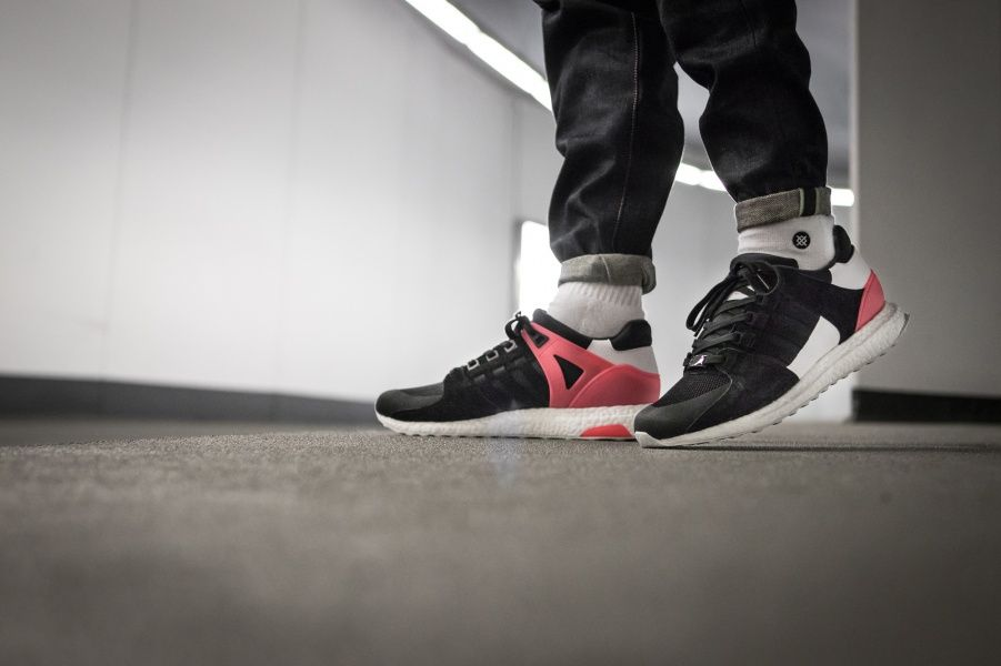 Adidas EQT Support Ultra Core Black / Turbo Credit : 43einhalb #Adidas #Inside #Sneakers