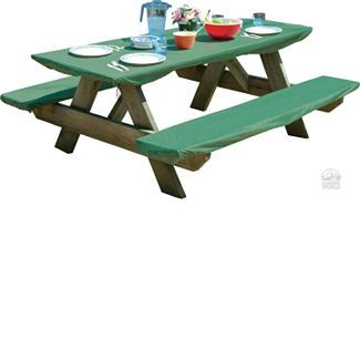 Bungee Picnic Table & Bench Cover Set* No more sitting at dirty ...