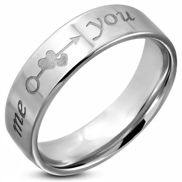 Romantische Tekst Ring van Edelstaal