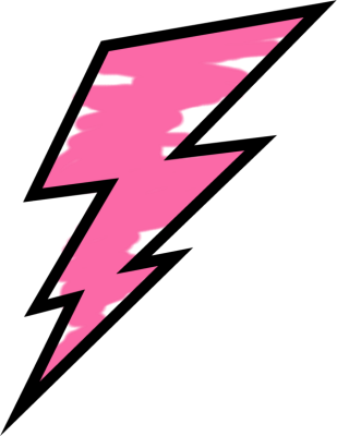 Pink Painted Lightning Bolt
