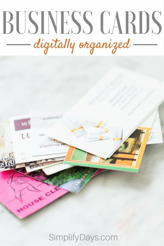 Business Cards Digitally Organized | Organizing, Business and Tutorials