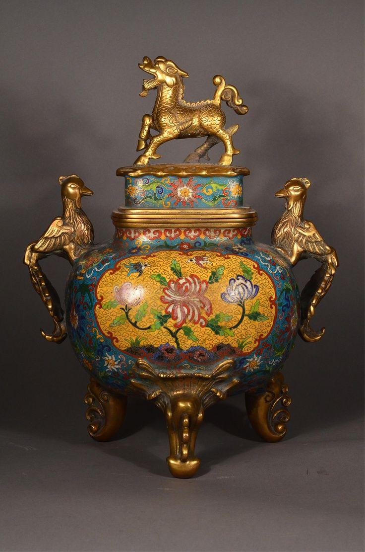 15th Century Ming Imperial Cloisonne Censer