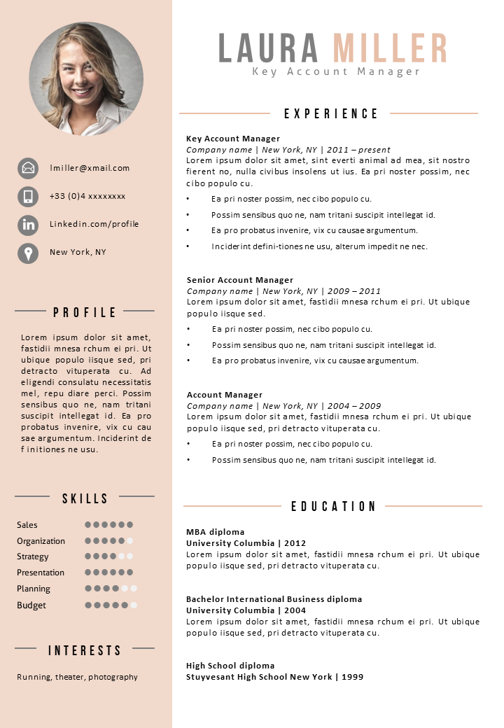 Resume Template Mount Kea Resume Templates AMBT Modern