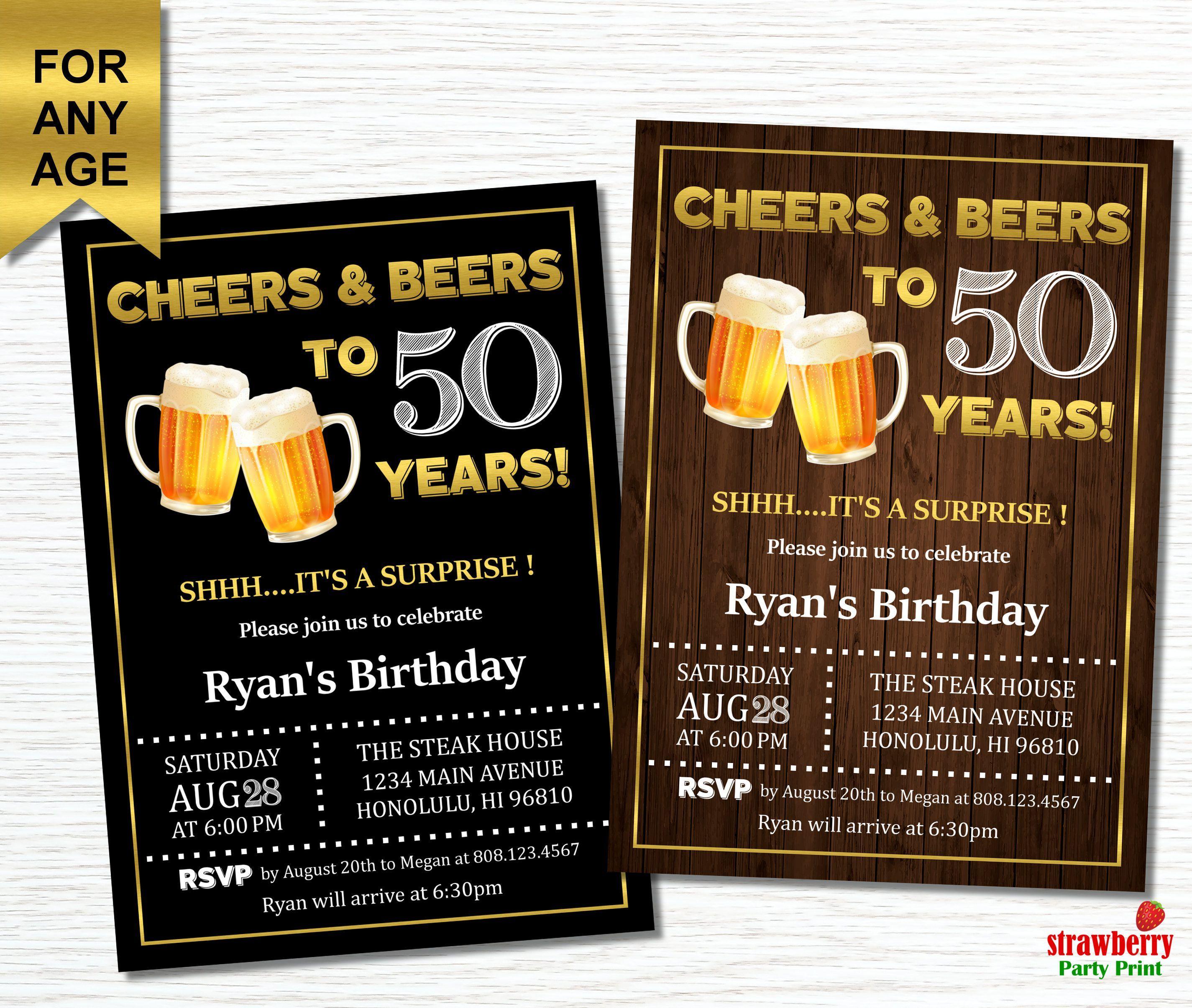 50th Birthday Invitations Online Party