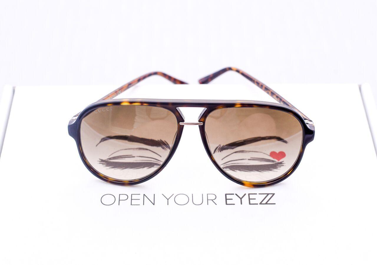 d44926c4093 Vintage Inspired · Cat Walk · Gucci GG0015S 002 (brown tortoise) Sunglasse Gucci  Eyewear