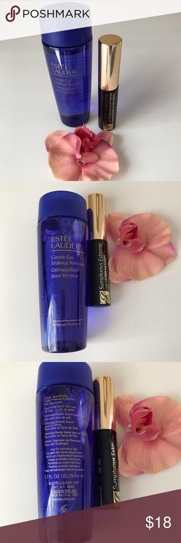 NEW ESTEE LAUDER EYE Makeup Remover & MASCARA NWT (With