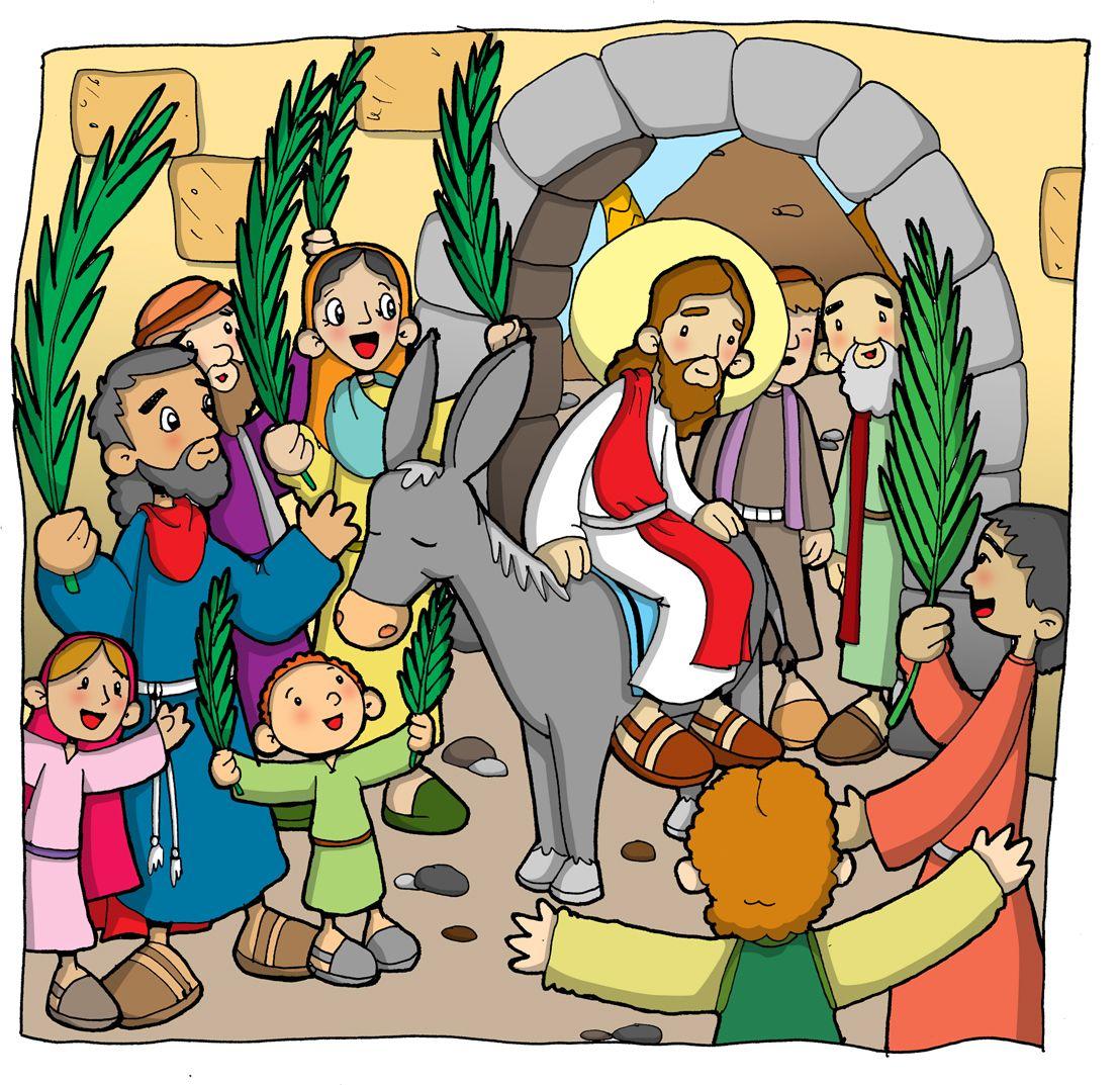 Los Niños Saludan A Jesús Con Alegría Feliz Domingo De Ramos Domingo De Ramos Imágenes De Domingo