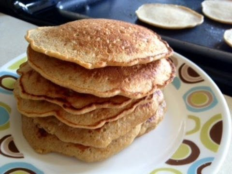 Receta pancakes de avena sin leche