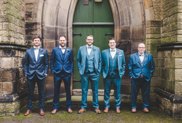 Colourful Home Made Spring Country Wedding | Bow tie groom ...