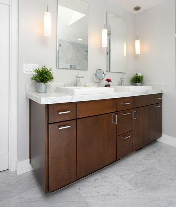Waschtisch Beleuchtung Im Bad 22 Tolle Ideen Als Anregung Waschbecken Design Bad Pendelleuchte Badezimmer