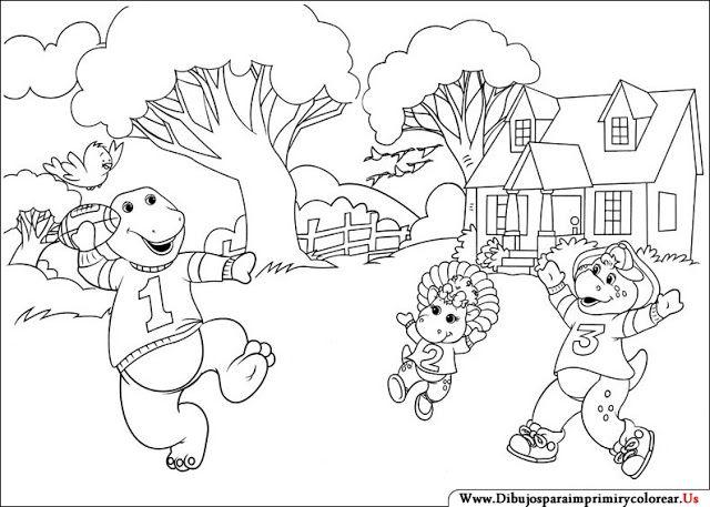Imagenes de Barney y sus Amigos para Imprimir y Colorear | imagenes ...