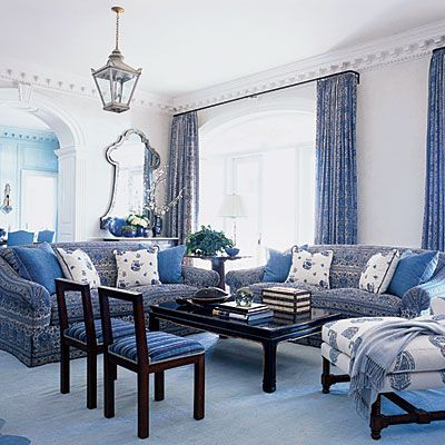 Blue And White Rooms our favorite blue-and-white rooms | classic, patterns and beaches