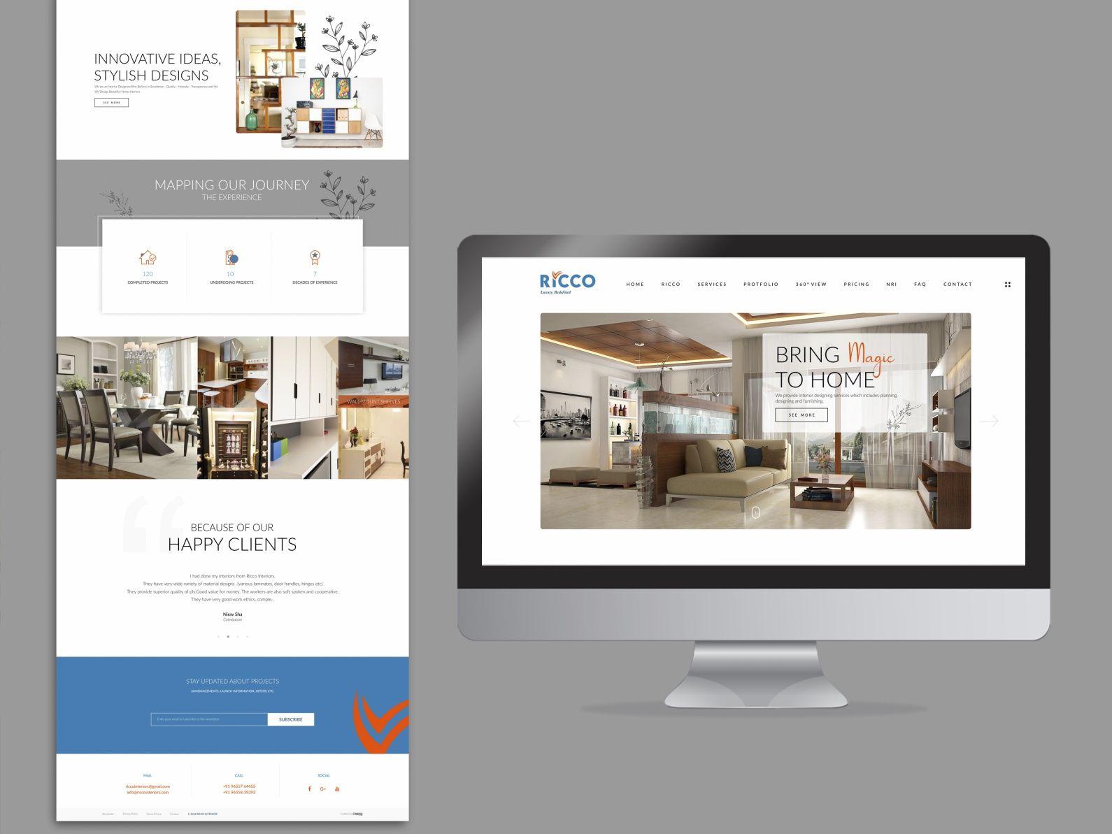 Interior Designer Website By Naveen In 2020 Website Design