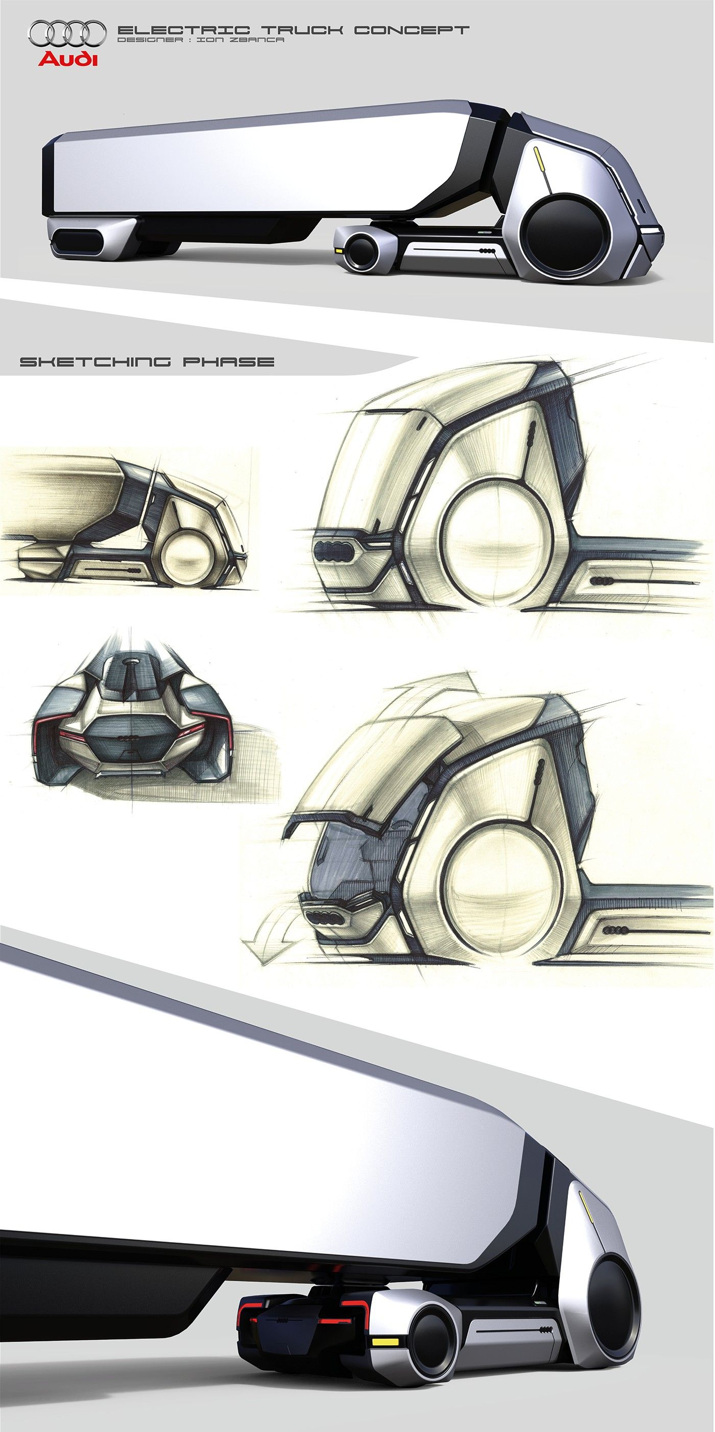 Electric Truck Concept on BehanceAudi Electric Truck Concept on Behance  Sketches on Behance  The R