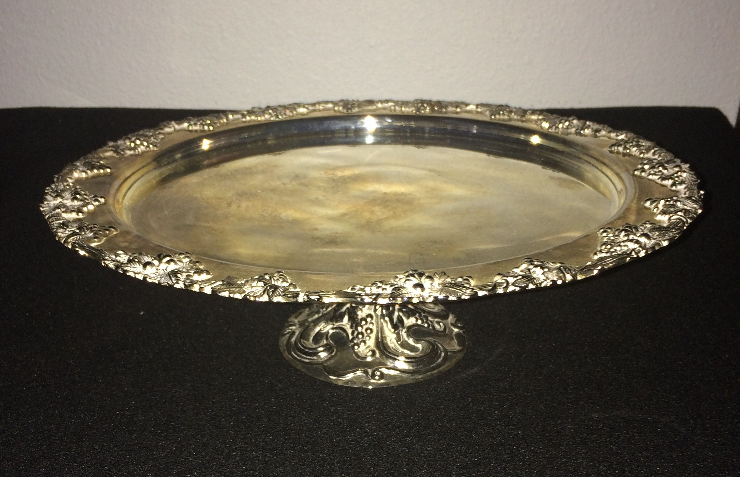 Godinger silver plated Cake stand S28 HB4