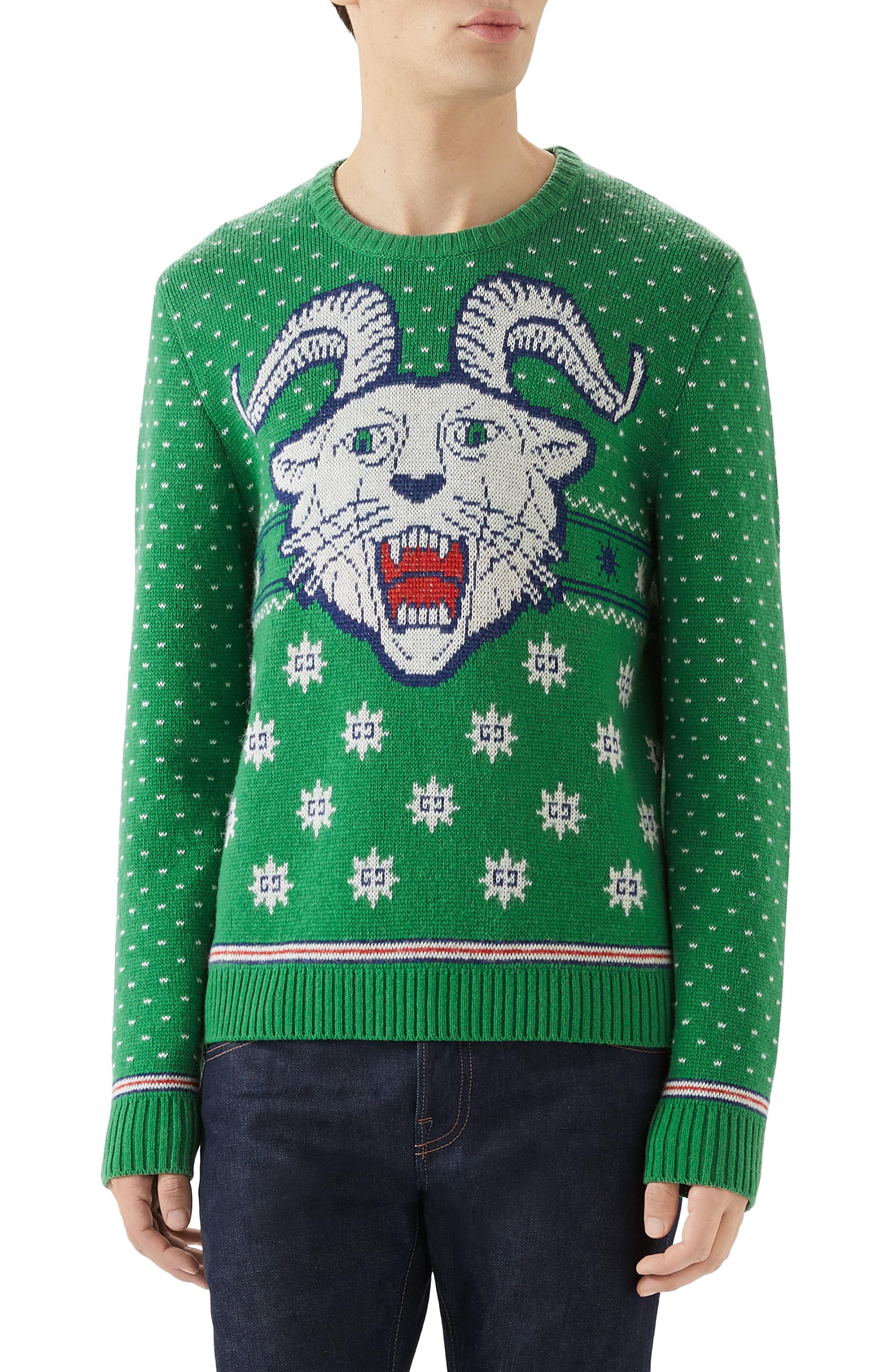 Gucci Crewneck Intarsia Wool Alpaca Sweater Nordstrom Alpaca Sweater Sweaters Mens Clothing Styles [ 4048 x 2640 Pixel ]