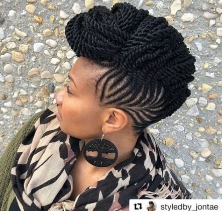 33 Trendy Ideas Braids Updo For Black Women Protective Styles Faux Locs