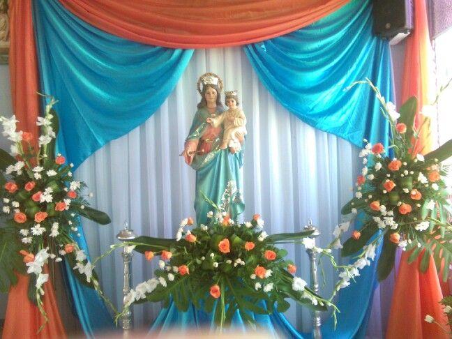 Altar a mar a auxiliadora altares altar altar decorations y altar flowers - Divinos pucheros maria jose ...