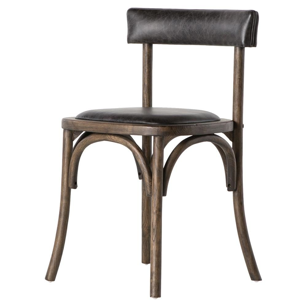 Awe Inspiring Dima French Country Black Leather Bistro Chair In 2019 Pdpeps Interior Chair Design Pdpepsorg