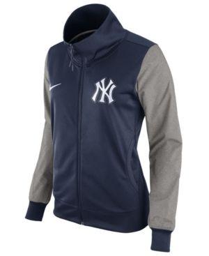 Nike Women's New York Yankees Track Jacket Blue   Nike