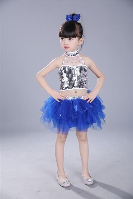 e3b8f4213 Chinese modern jazz dance costumes for kids girls children stage ...