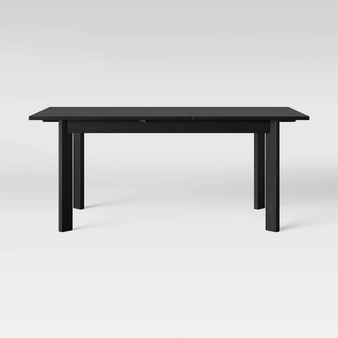 Bombelli Modern Dining Table With Extension Leaf Black Project