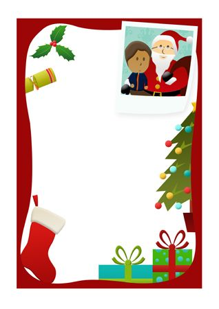 Letter to Santa / Xmas Notepaper Christmas  winter Activities