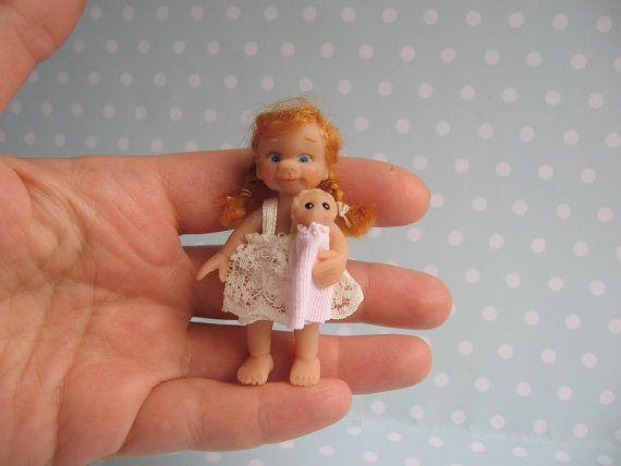 0daf3172f Miniatur OOAK Baby Mädchen 6