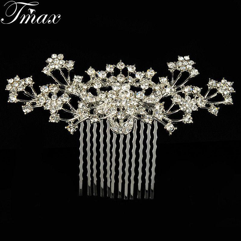 bridal hair comb wedding comb Flower Hair Jewelry Beautiful Bridal ...