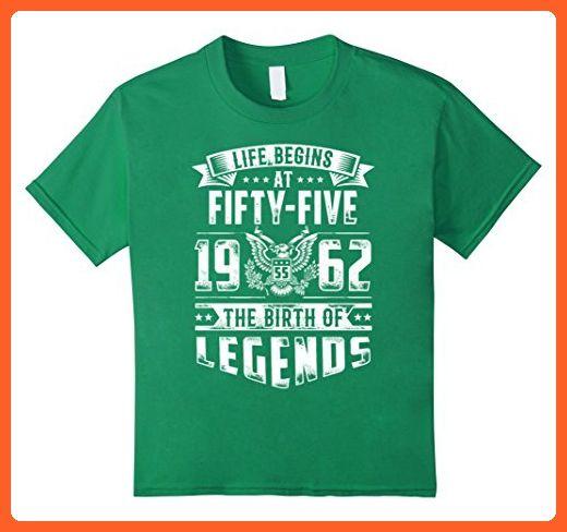 Kids Happy 1962 My 52th Birthday Gift Ideas T Shirt 4 Kelly Green