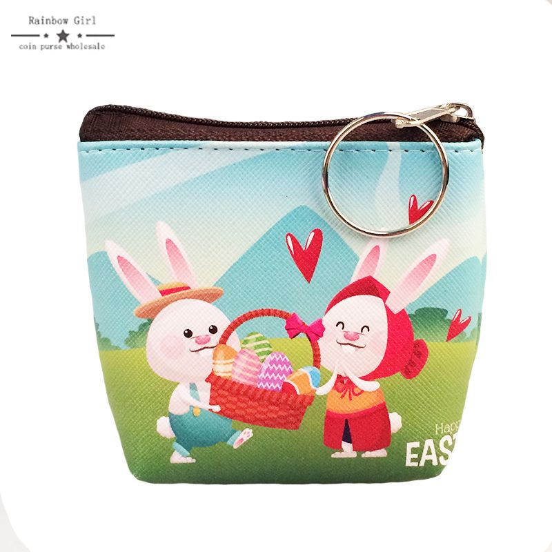 6pcs pu leather happy easter bunny coin purse 6color lovely easter pu leather happy easter bunny coin purse lovely easter egg wallet for children lovely gifts for children wholesale negle Image collections