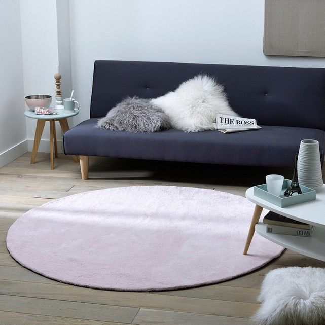 renzo round tufted cotton rug large version  living room