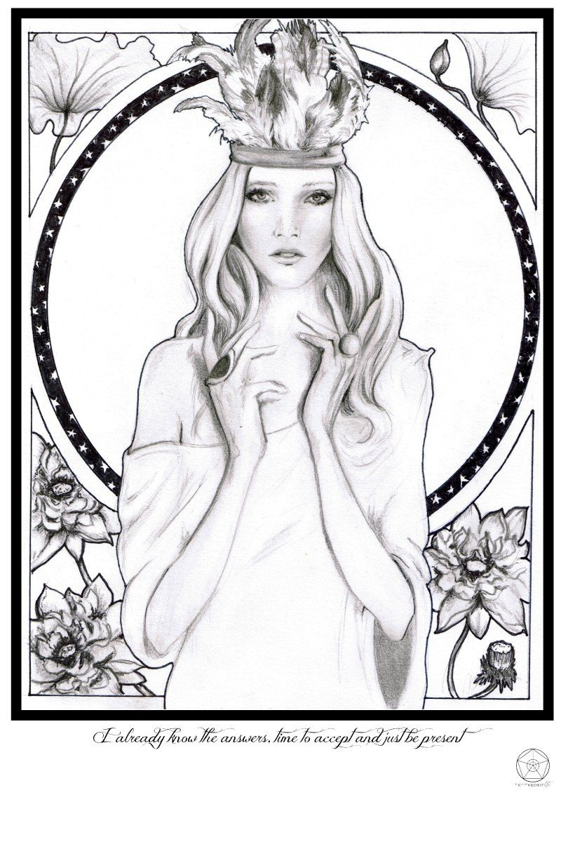 Www.thefifthelementlife.com spiritess goddess illustration with mantra