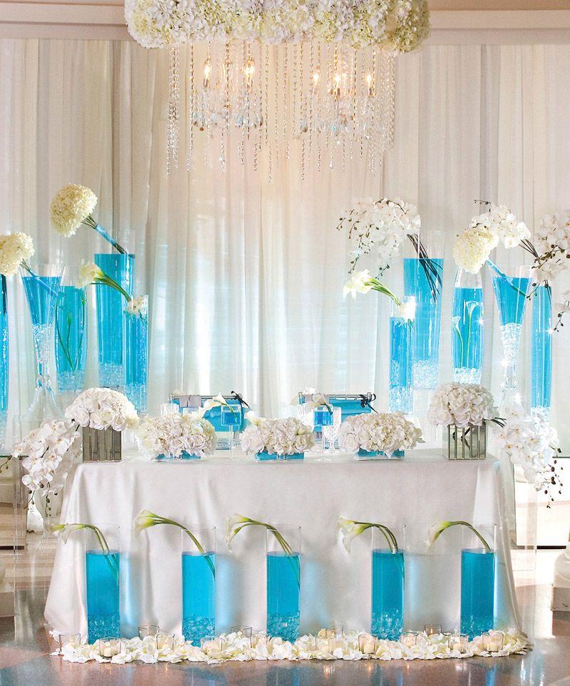 Turquoise wedding decoration for 2016 decor image for Wedding banquet decoration ideas