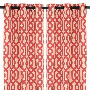 Red Gatehill Curtain Panel Set 84 In Curtains Drapes Curtains