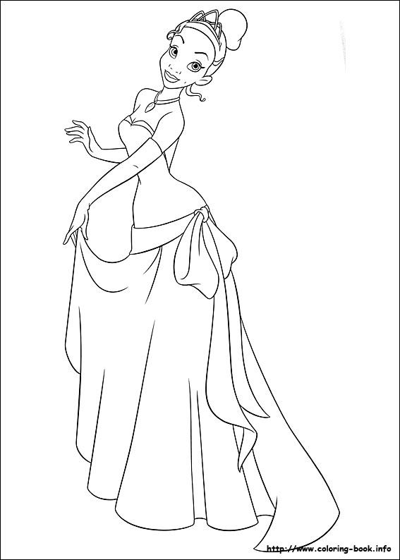 The Princess and the Frog coloring picture | Coloring Pages * Disney ...