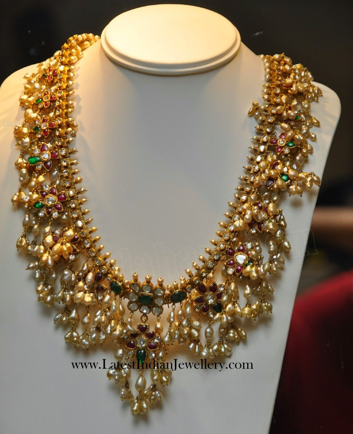 Traditional Guttapusalu Gold Necklace | Gold necklaces ...