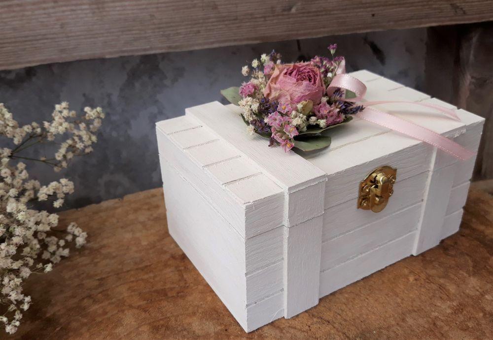 Details Zu Ringbox Mille Fleurs Holzbox Eckig Ringkissen Ringhalter
