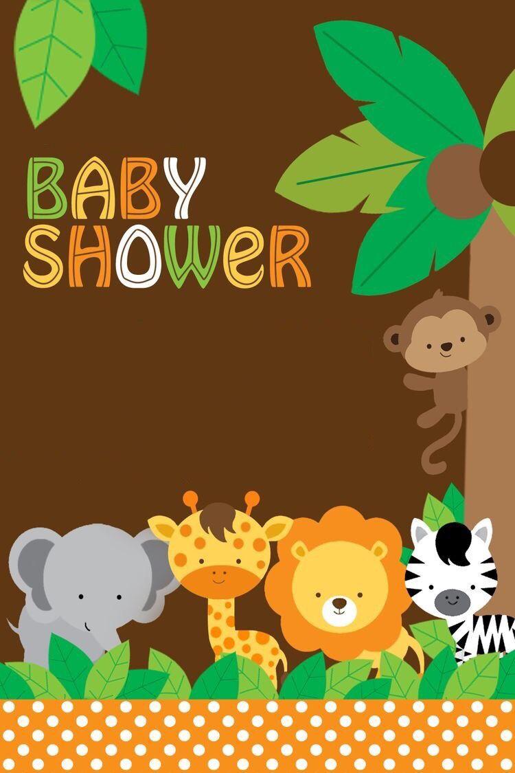 Invitacion Baby Shower Monitos Invitaciones Safari